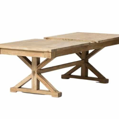 שולחן אוכל רגל איקס נפתח - תמונה ראשית