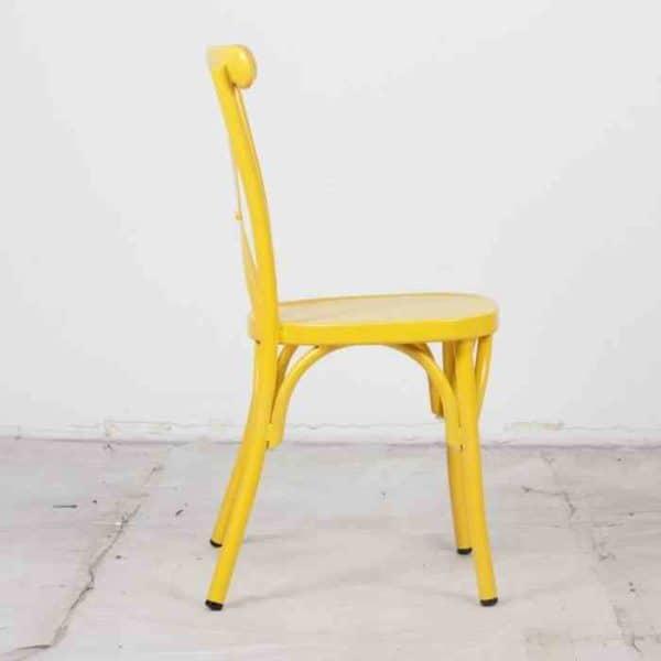 כסא אלומניום איקס צהוב