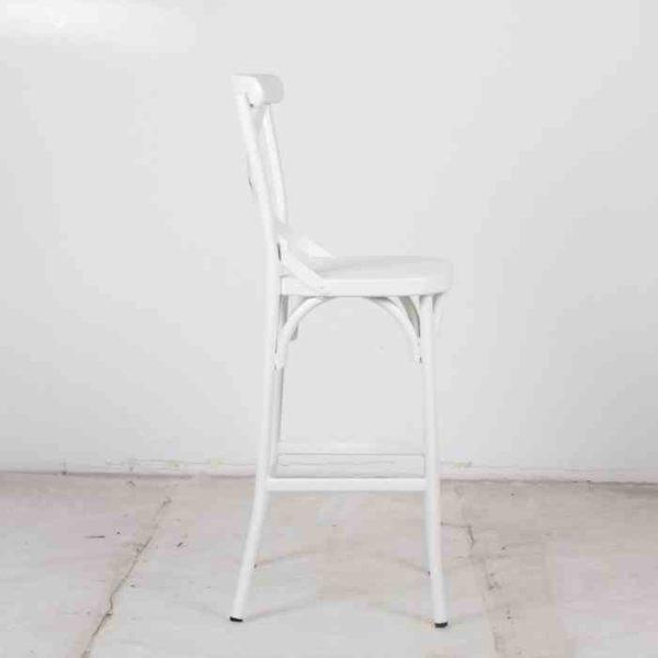 כסא בר אלומניום איקס OFFWHITE