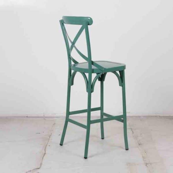כסא בר אלומניום איקס ירוק