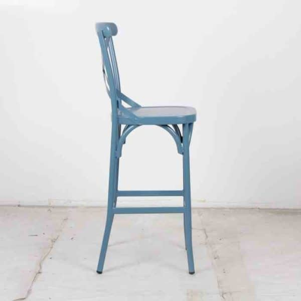 כסא בר אלומניום איקס כחול