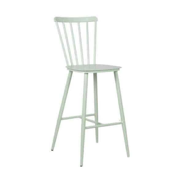 כסא בר אלומניום וינטג׳ ירוק
