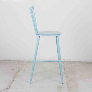 כסא בר אלומניום וינטג׳ תכלת