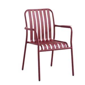 כסא אלומיניום LINEN אדום