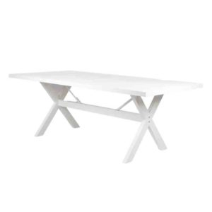 שולחן אלומיניום רגל איקס