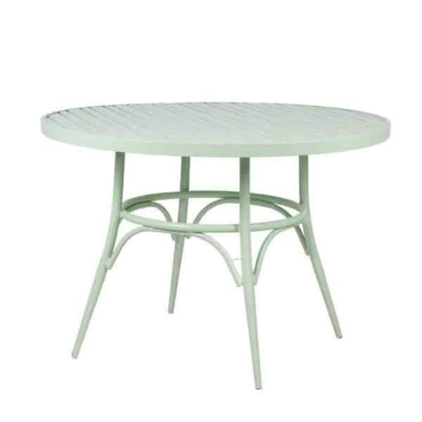 שולחן אוכל עגול ירוק - תמונה ראשית