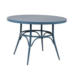 שולחן אוכל עגול כחול - תמונה ראשית