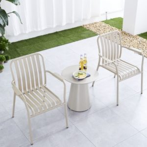 כסא אלומיניום LINEN לבן