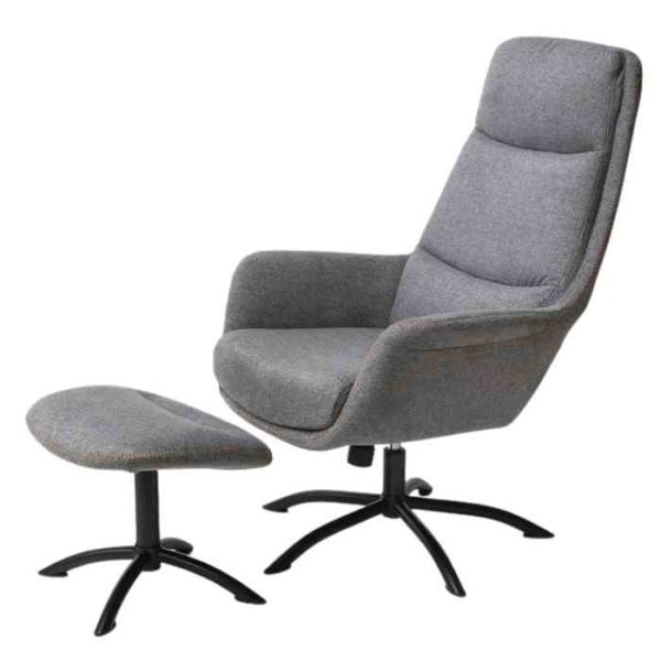 כורסא + הדום דגם KELLY גוון אפור - תמונה ראשית