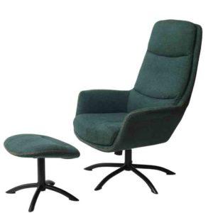 כורסא + הדום דגם KELLY גוון ירוק - תמונה ראשית