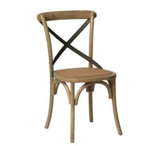 כסא אוכל גב איקס ברזל - תמונה ראשית