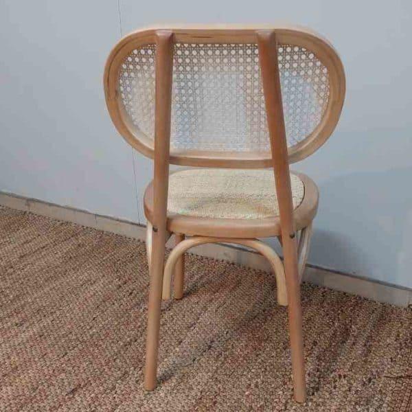כסא אוכל משולב ראטן
