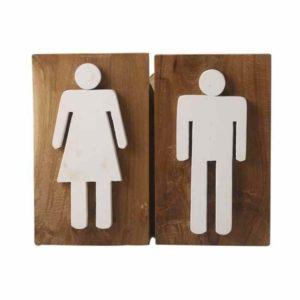 שלט לשירותים גבר ואישה