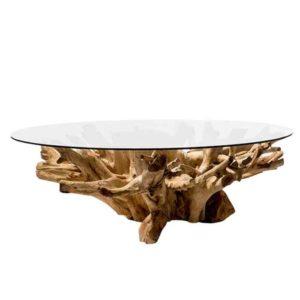 שולחן סלון גזע עץ טיק