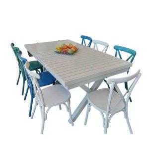 שולחן אלומיניום איקס
