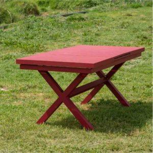 LINEN שולחן אלומיניום למרפסת באורך 160 ס״מ
