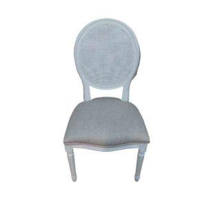 כסא לבן משולב