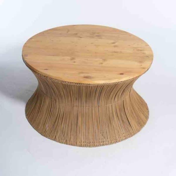 ZANZIBAR - שולחן סלון מעוצב עם עץ אורן
