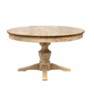 FALIRAKI שולחן אוכל עגול מעץ מלא