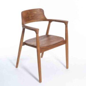 MULYA כסא אוכל מעוצב מעץ מלא