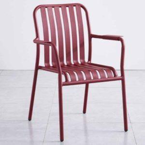 כסא אלומיניום אדום LINEN