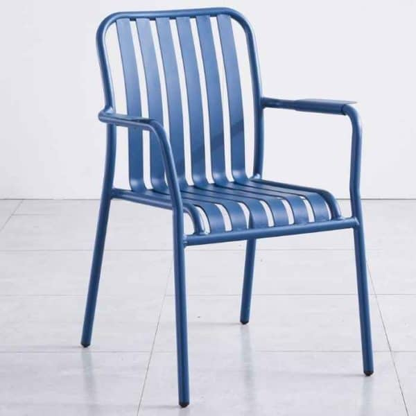 כסא אלומיניום כחול LINEN