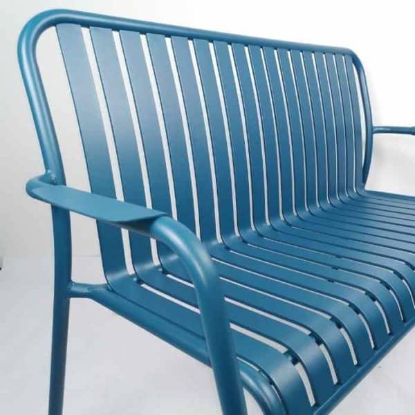 LINEN - ספסל אלומיניום כחול
