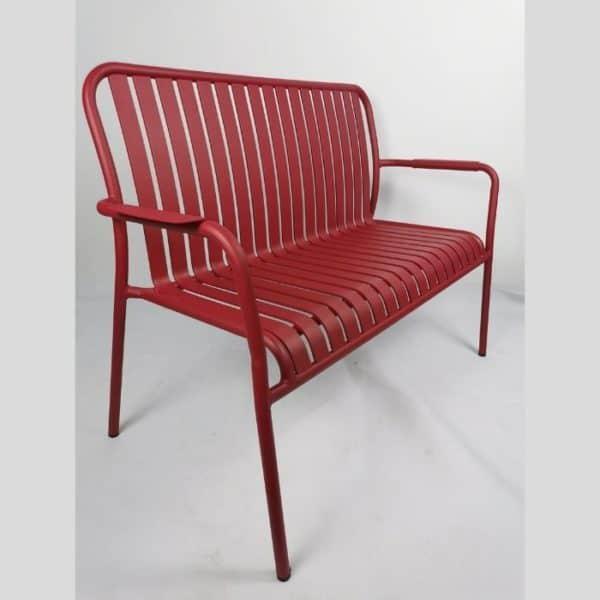 LINEN - ספסל אלומיניום אדום
