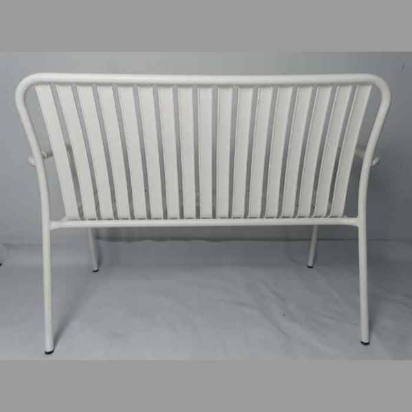LINEN ספסל אלומיניום לבן