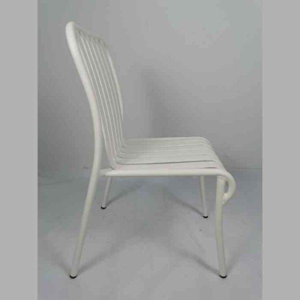 LINEN כסא אלומיניום לבן