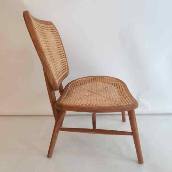 Notario כסא מעוצב מעץ בשילוב ראטן