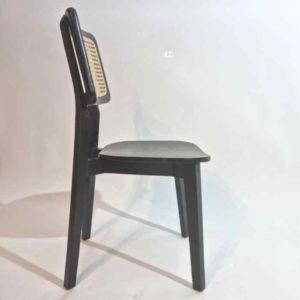 Neo כסא עץ משולב ראטן