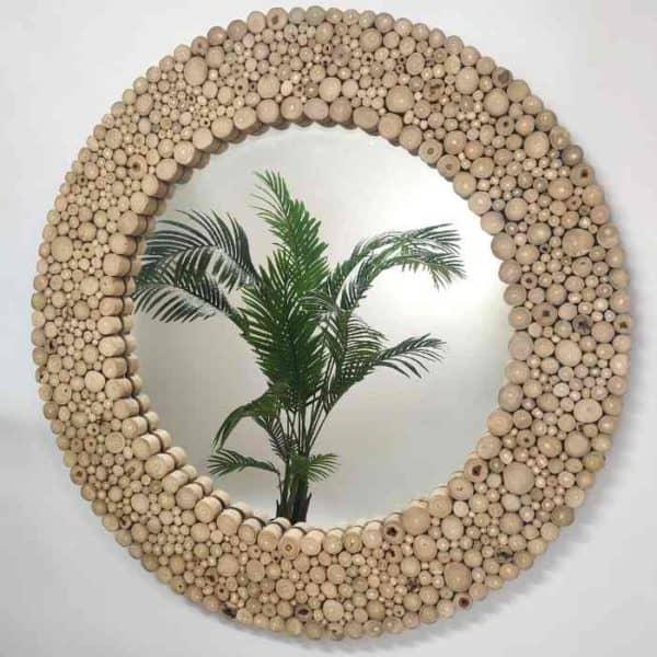 Grayson - מראה מעוצבת חלקי עצים