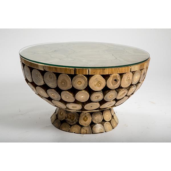 שולחן סלון משורש עץ הטיק